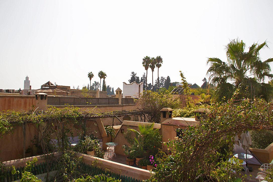 rooftop terrace garden dar rbaa laroub marrakech riads