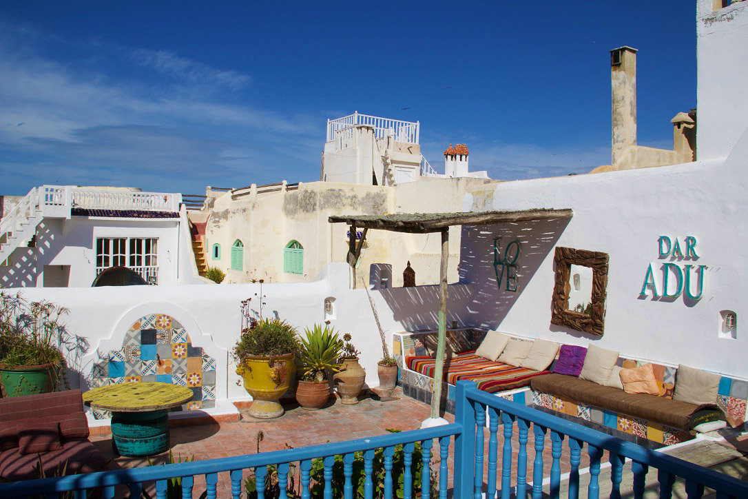 rooftop terrace riad dar adul karma surf retreat essaouira