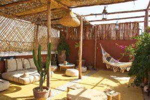 rooftop terrace at riad yasmine marrakech