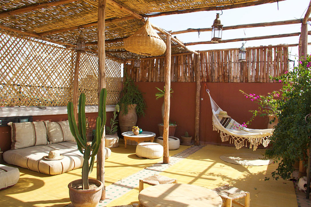 rooftop terrace riad yasmine marrakech