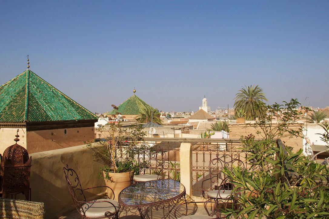 rooftop view riad khol marrakech riads morocco