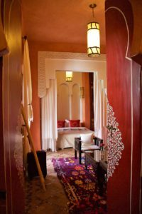 room bed bathroom riad yasmine marrakech