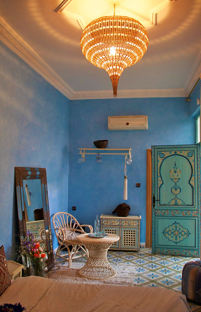 room riad be blue marrakech morocco