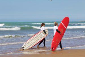 sidi kaouki surfing beach karma surf retreat