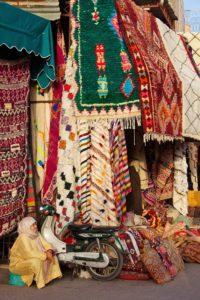 souks medina carpets marrakech morocco