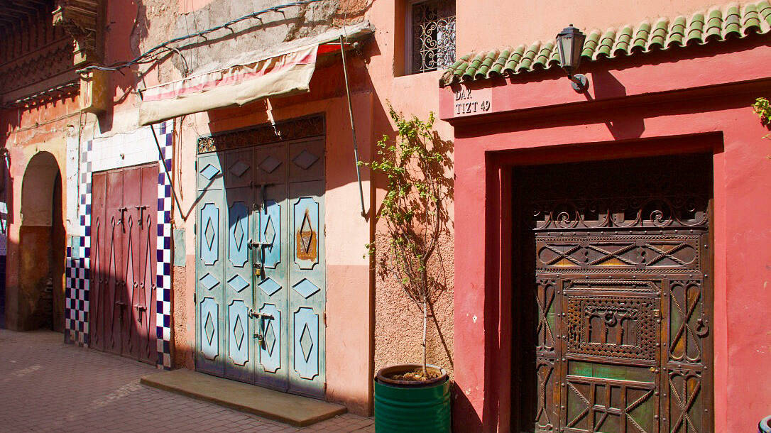 Colourful doors in the streets of Marrakech