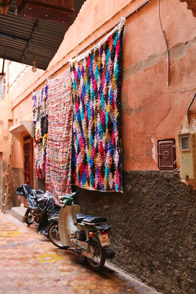 streets marrakech medina morocco