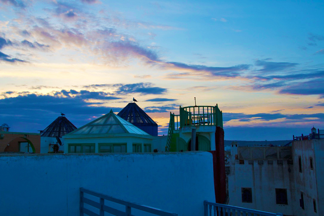 sunrise rooftop terrace dar adul karma surf retreat essaouira