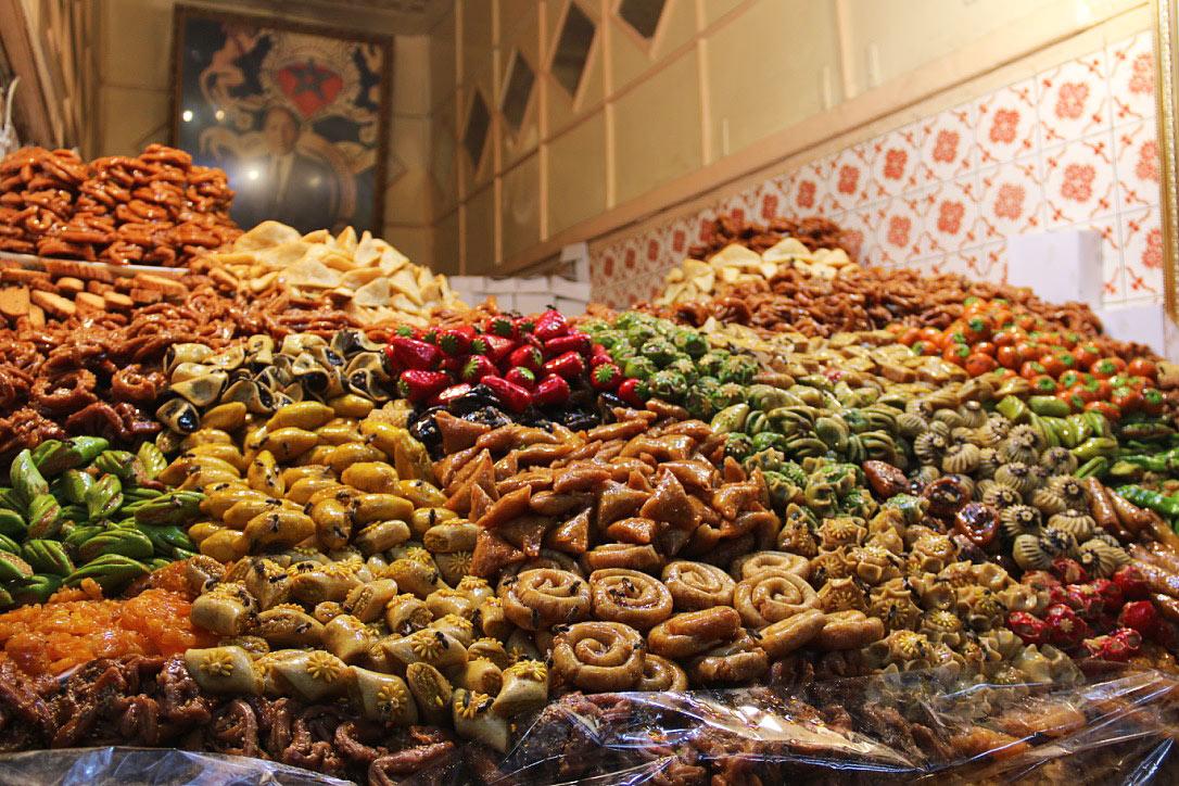 sweets medina souks marrakech morocco