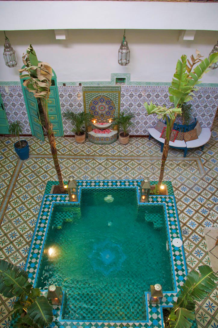 swimming pool riad be garden marrakech riads morocco