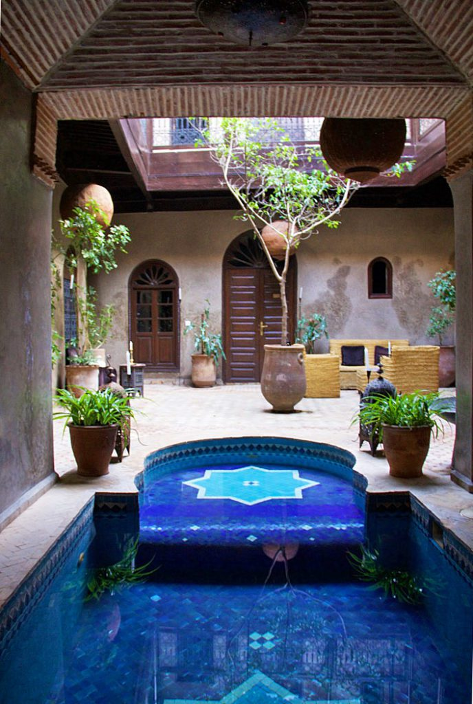 swimming pool riad khol garden marrakech