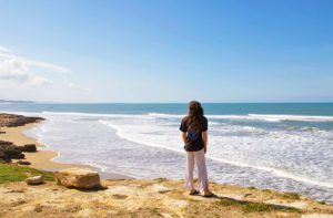 view beach surfing moulay karma surf retreat