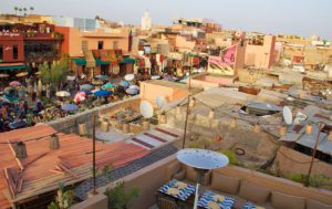 view rooftop terrace restaurant nomad marrakech morocco