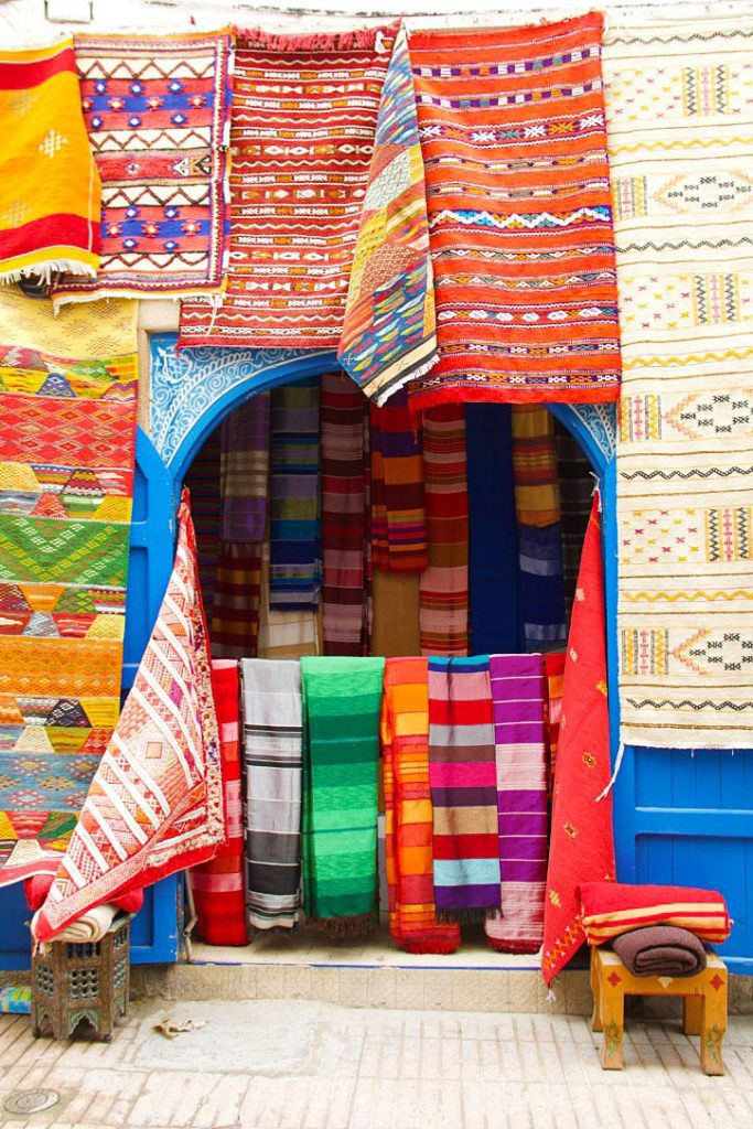 carpets colors medina essaouira