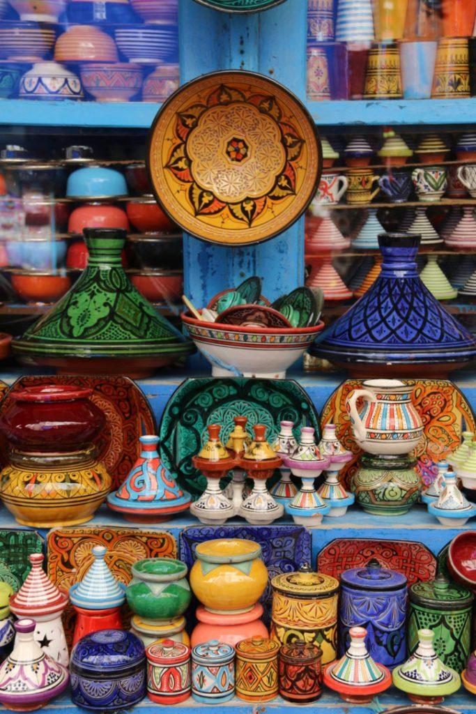 ceramic pottery medina souk essaouira morocco