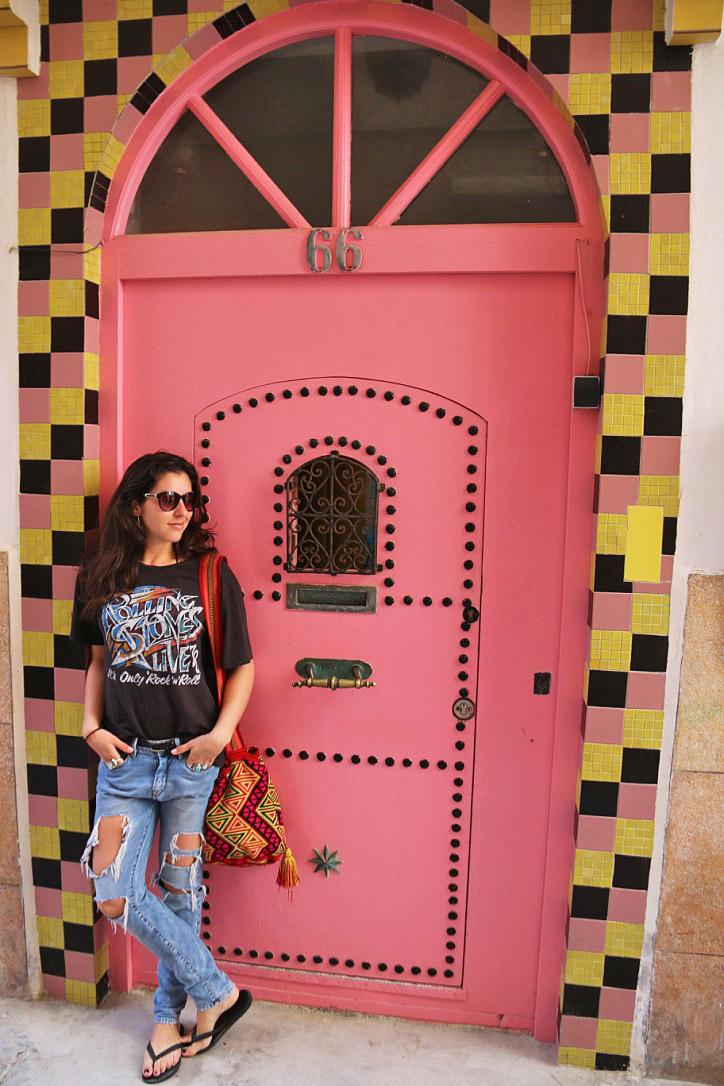 doors colors essaouira morocco