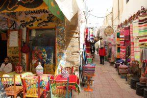 medina souk streets essaouira morocco
