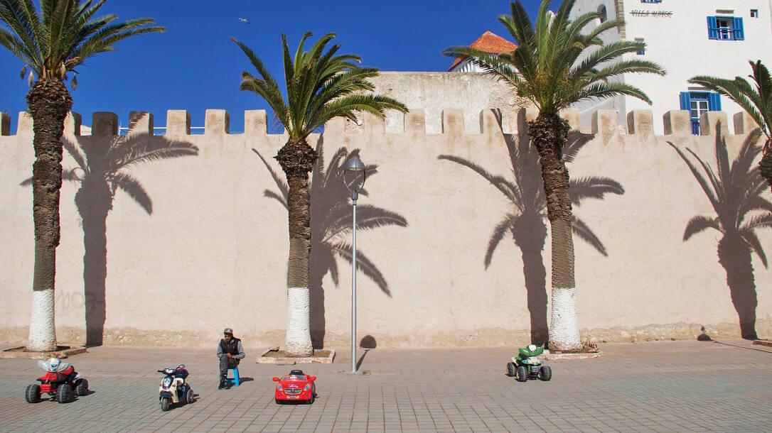 Medina walls of Essaouira Morocco