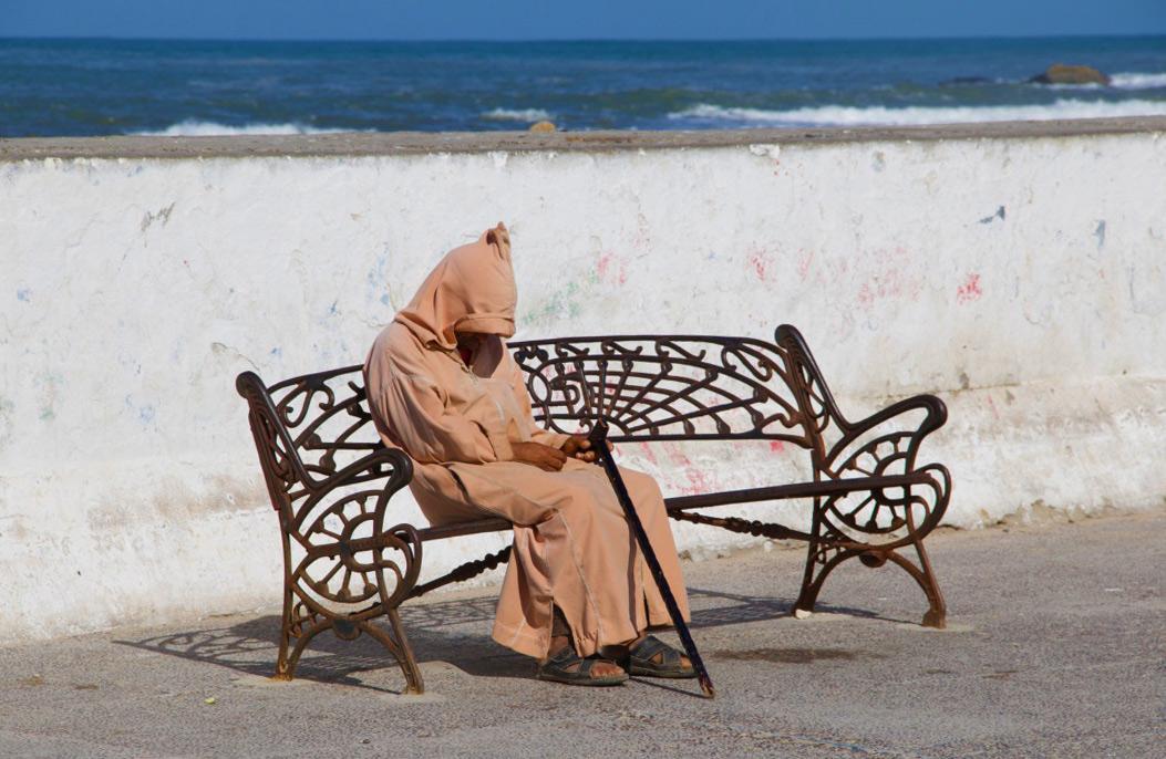 moroccan man harbour essaouira morocco
