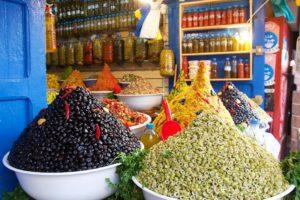 olives food market essaouira medina morocco