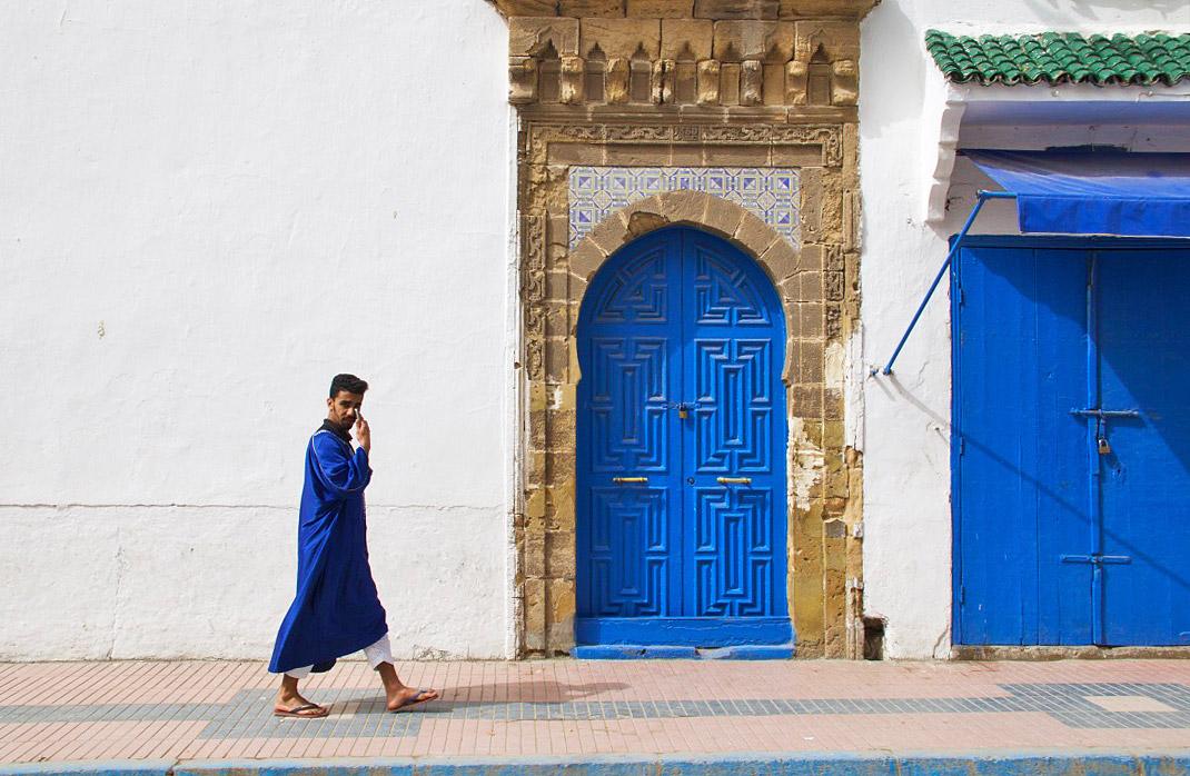 streets essaouira man morocco