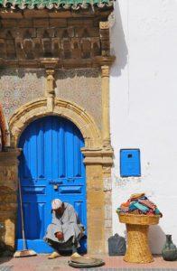 streets medina essaouira man morocco