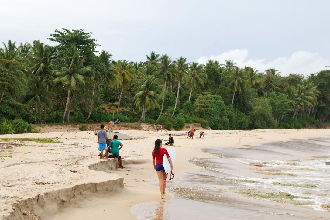 Alus Alus surf spot on Simeulue Island Sumatra