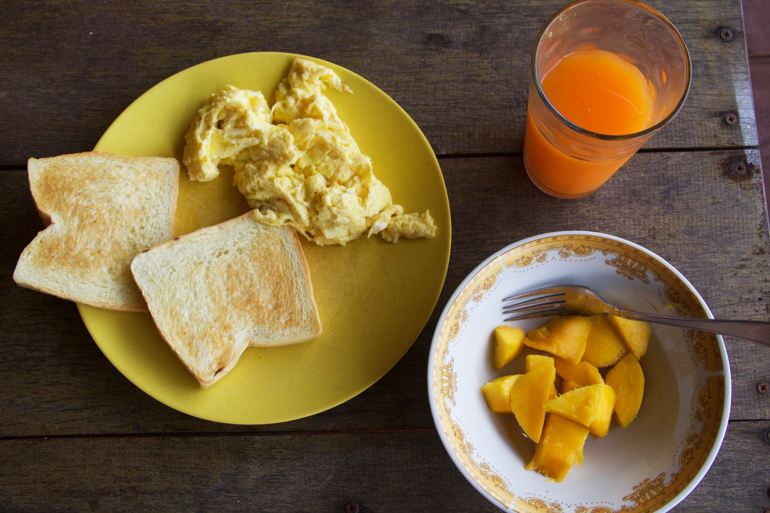 breakfast simeulue surf lodge sumatra