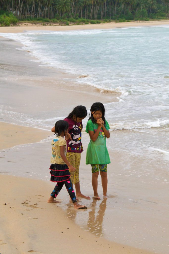 girls beach simeulue island sumatra