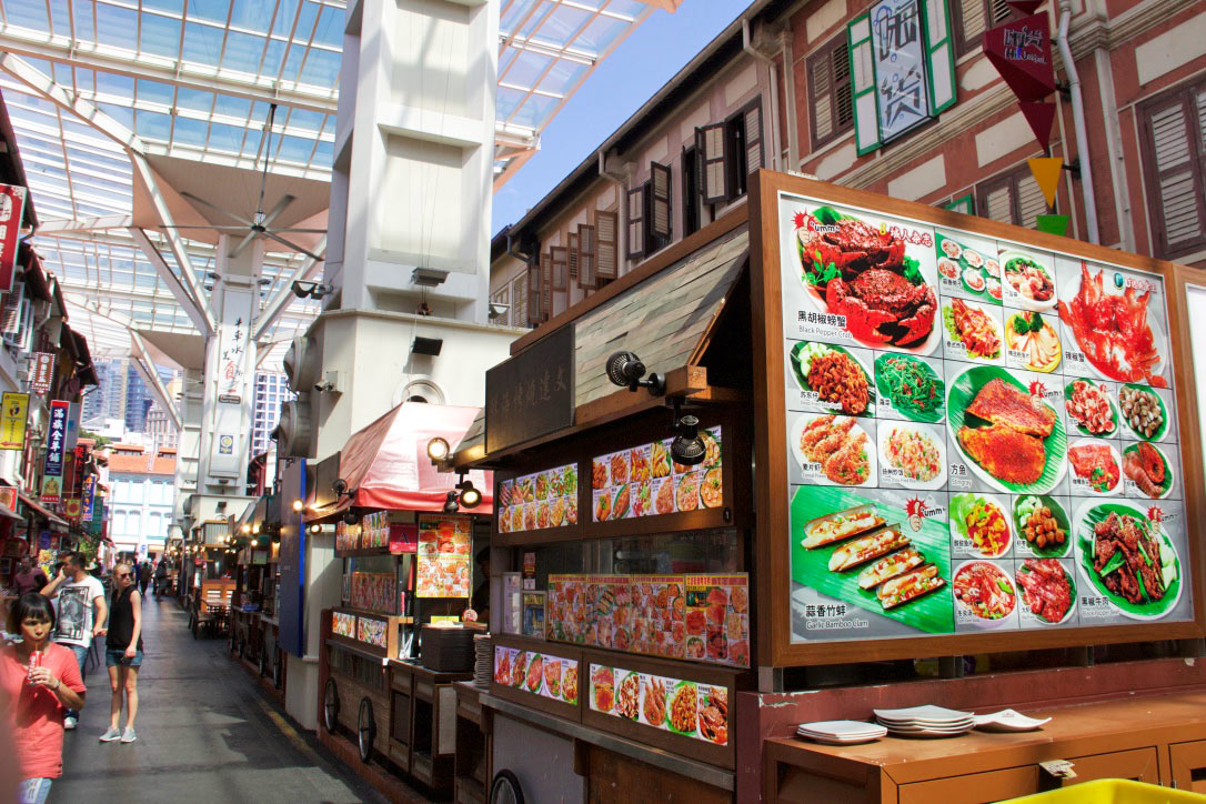 china town food street singapore