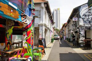 haji lane street art arab quarter singapore