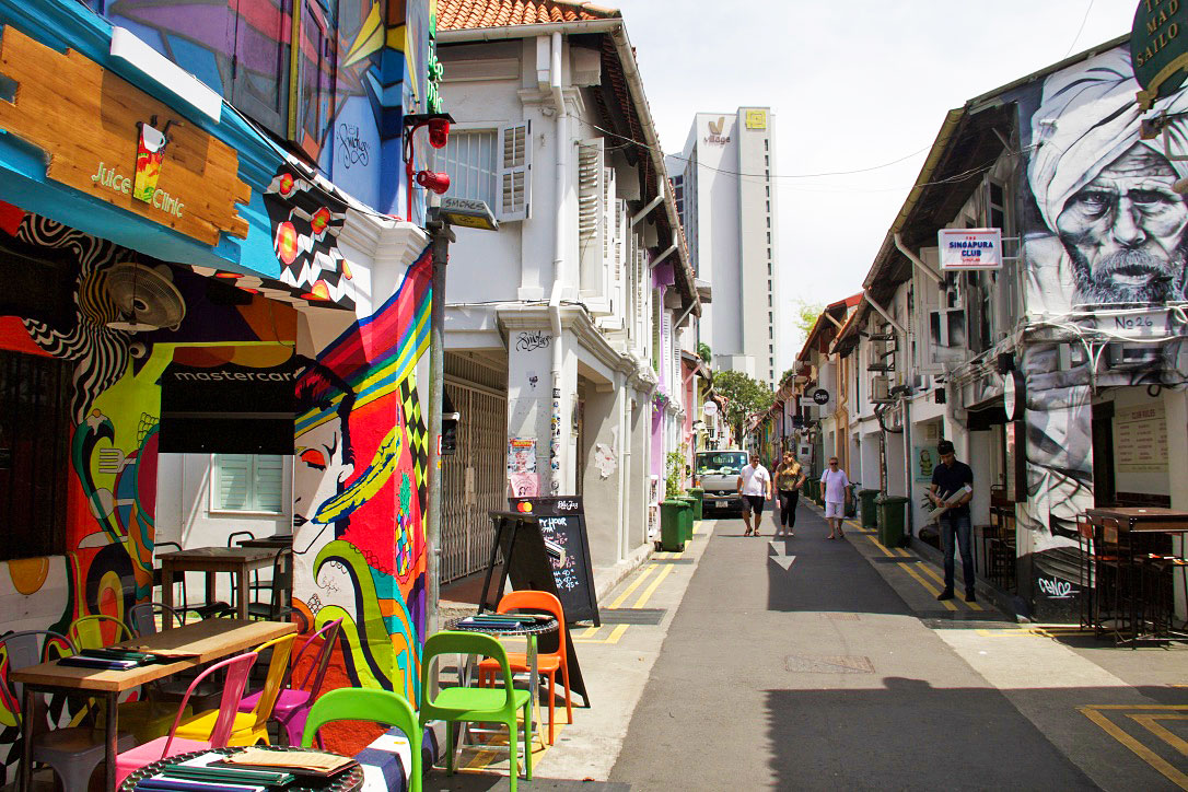 haji lane street art arab quarter singapore
