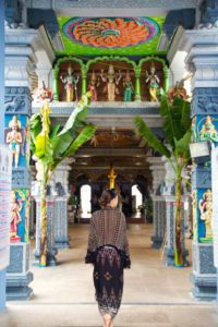 hindu temple little india neighborhood singapore