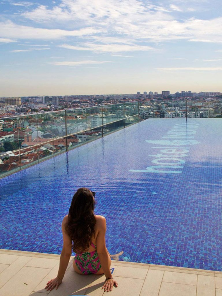 hotel indigo singapore katong rooftop swimming pool