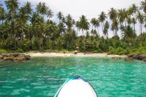 palmtrees boat trip simeulue surf lodges island sumatra