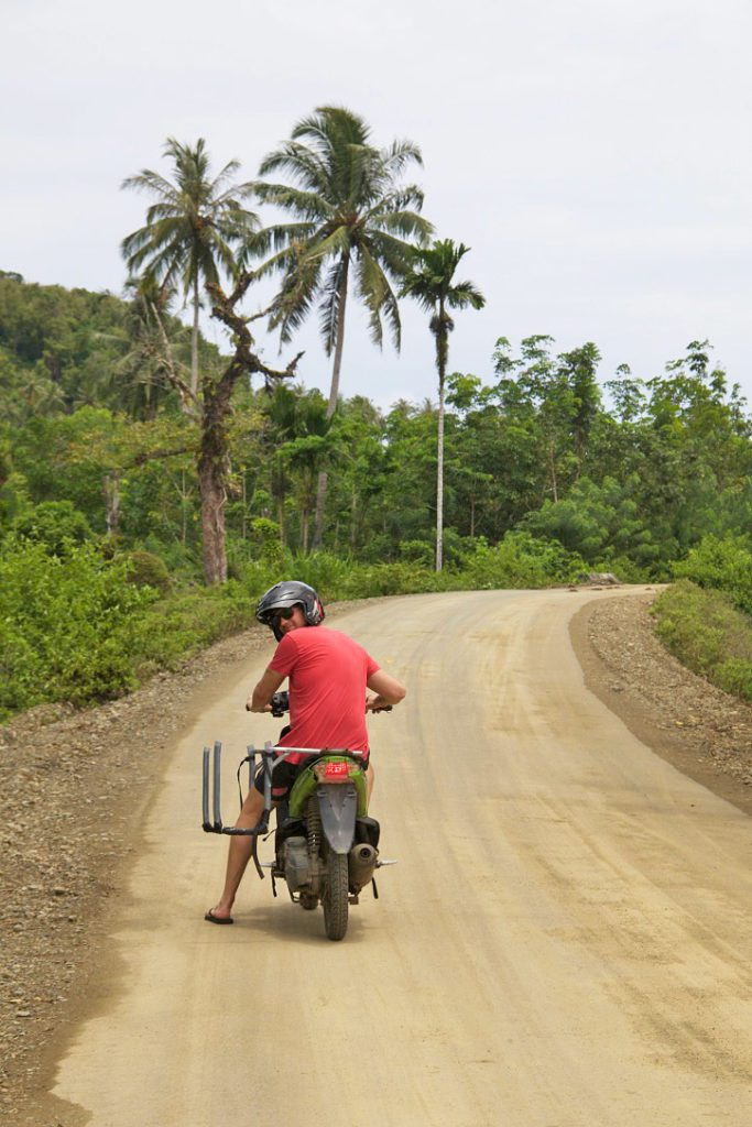 scooter simeulue surf lodges island sumatra