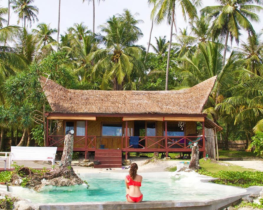 simeulue surf lodges swimming pool sumatra island