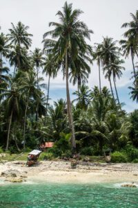 Beach on Simeulue Island Sumatra