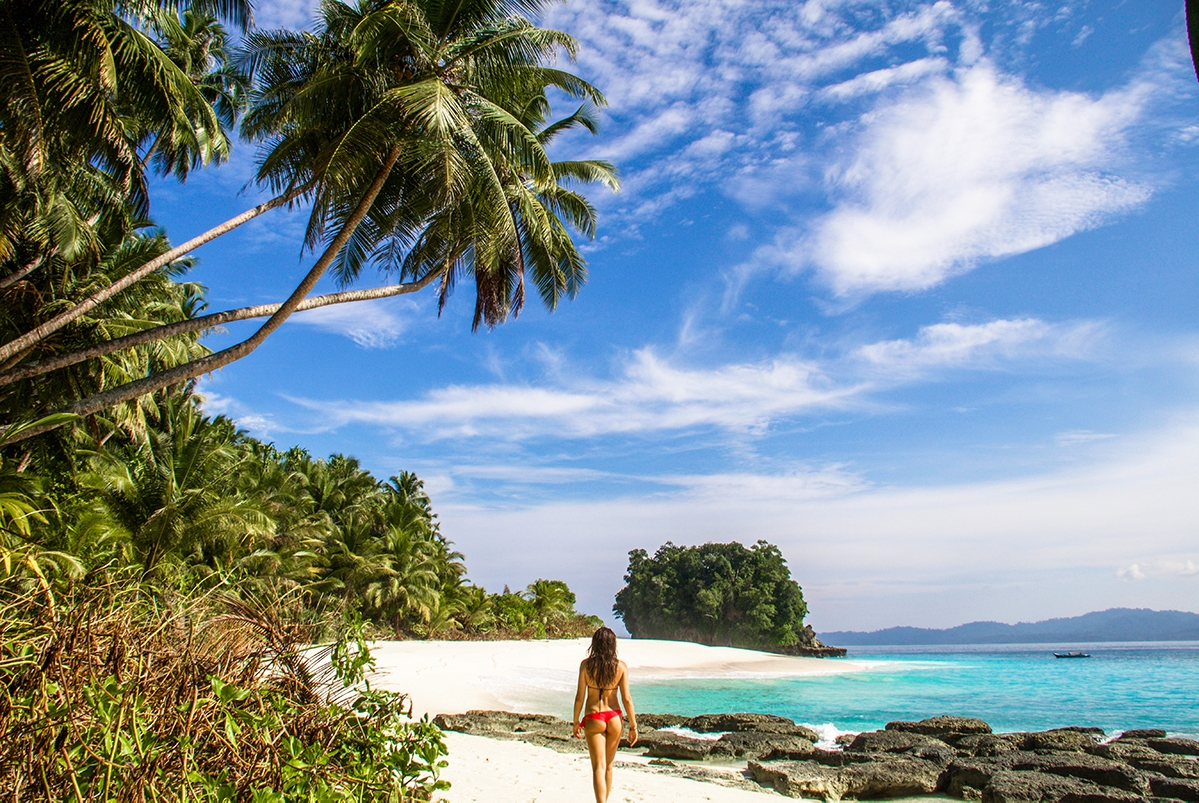 Inhabited island at Simeulue Indonesia