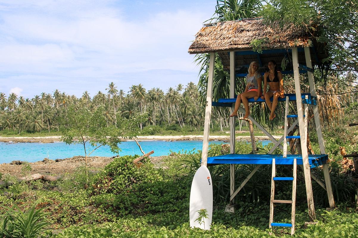 Surf check at Simeulue Surf Lodges Sumatra