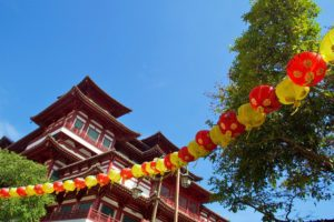 singapore china town buddhist temple tooth buddha