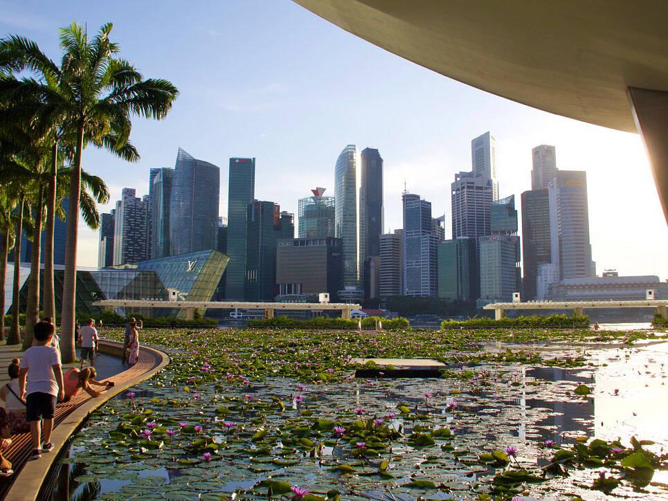 skyline marina bay singapore