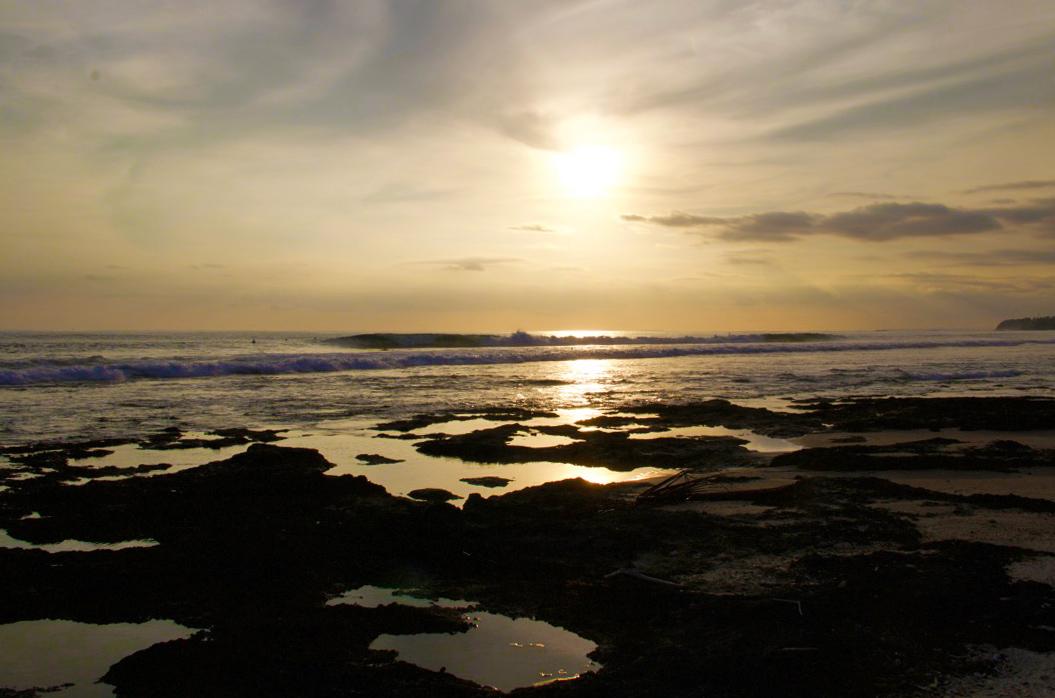 Sunset surf at The Peak Simeulue Island Sumatra