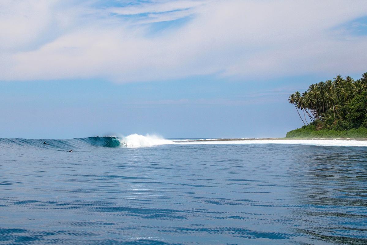 Surf spot at Simeulue Island Indonesia