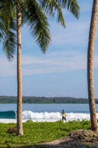 Surfer at Dylan's right on Simeulue Island Sumatra