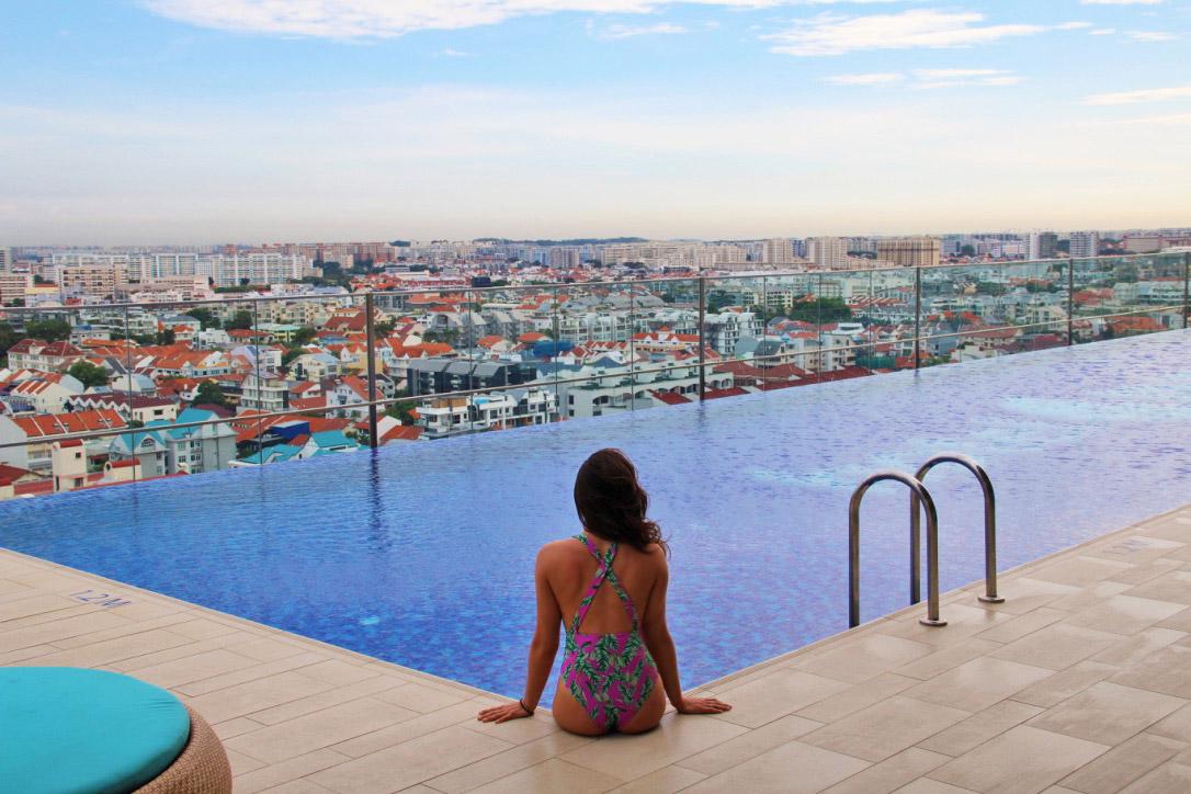 swimmingpool rooftop hotel indigo katong singapore