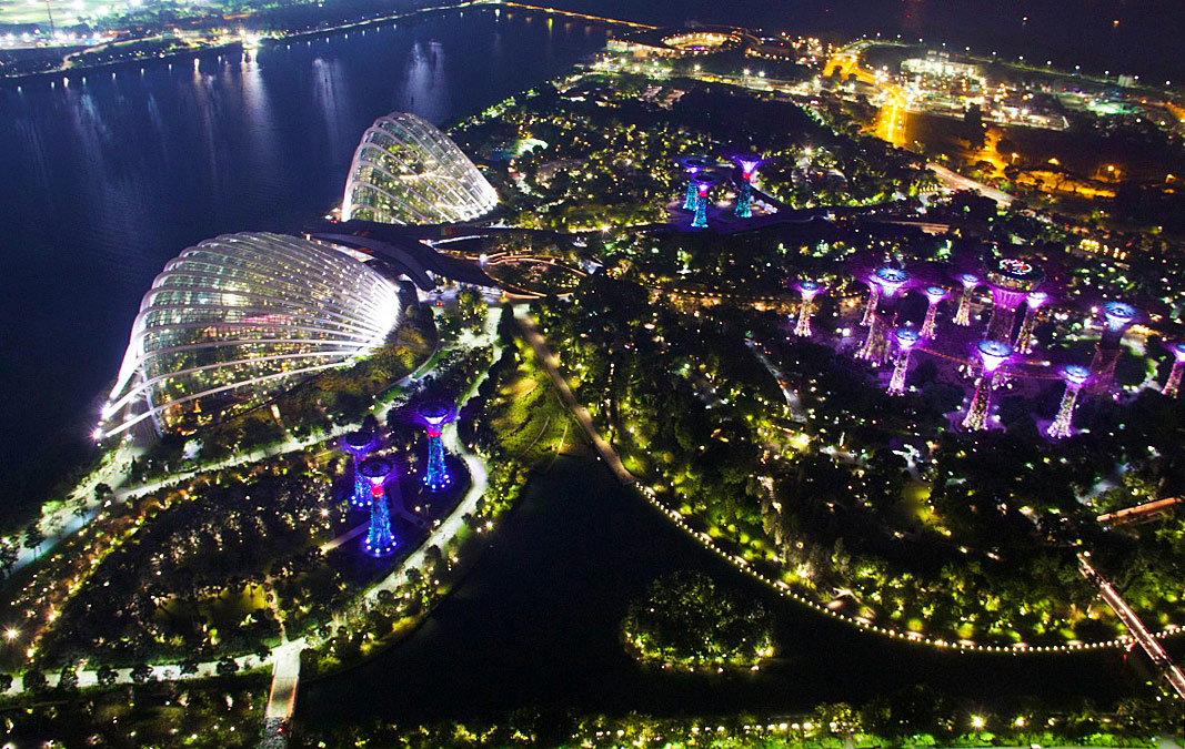 view marina bay sands gardens singapore