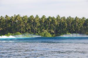 Waves at Teabags surf breaks Simeulue Island Sumatra