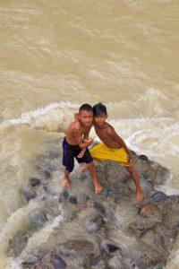 boys bukit lawang village sumatra