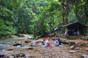 breakfast jungle trekking bukit lawang sumatra